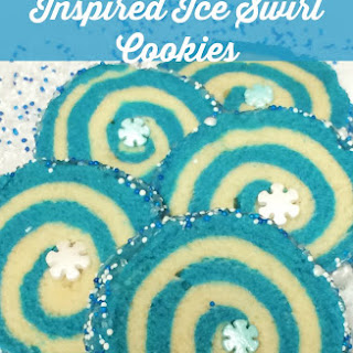 Disney Frozen Ice Swirl Cookies |Sugar Cookie