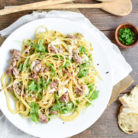 Creamy Brown Butter Pasta with Sausage and Crab