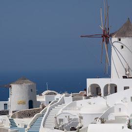 Santorini, Greece, august 2014 by Vladimir Firsov - Landscapes Travel ( mill, greece, sea, travel, santorini )