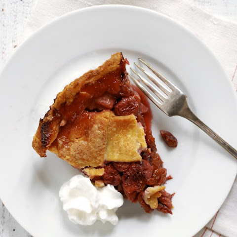 Gluten-Free Honey-Bourbon Triple Cherry Pie