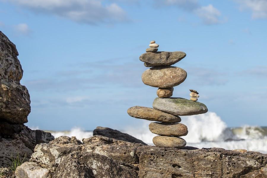Stone Piles by Rqserra by Rqserra Henrique - Artistic Objects Still Life ( brazil, primitive, fineart, rqserra, stone, rock, minimal, minimalism, contemporary, rocks, balance, beach, minimalist, stones )