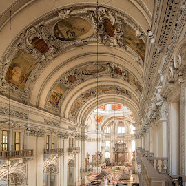 Balcony view at Salzburg Cathedral. by Simon Page - Buildings & Architecture Places of Worship