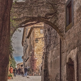Bagnoregio Italy by Angela Higgins - City,  Street & Park  Historic Districts