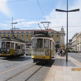 Lissbon Tram by Mogens Nielsen - City,  Street & Park  Street Scenes ( environement, tram, lissbon, kulture, portugal )
