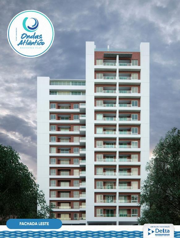Apartamento com 2 dormitórios à venda, 67 m² por R$ 378.000 - Cabo Branco - João Pessoa/PB