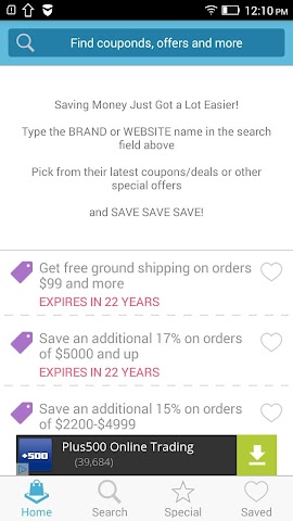 android Coupons for Panda Express Screenshot 0