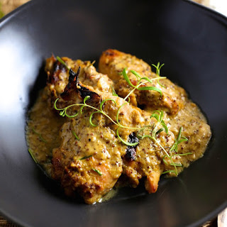 Baked Chicken with Maple-Mustard Marinade