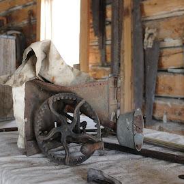 by Liz Huddleston - Artistic Objects Industrial Objects ( bannack, industrial, bannack ghost town, ghost town, montana, mining )