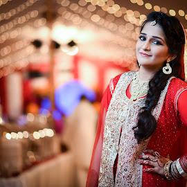The Bride by Malik Noman - Wedding Bride ( pakistani bride, desi bride, bride, bride in red, asian culture )