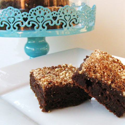 Chocolate Pumpkin Cake Brownies