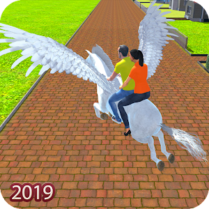 Flying Horse Taxi Driving: Unicorn Cab Driver For PC / Windows 7/8/10 / Mac – Free Download