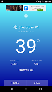 Blue Sky Weather screenshot for Android