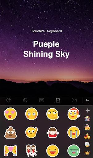 Purple Sky Keyboard Theme For PC
