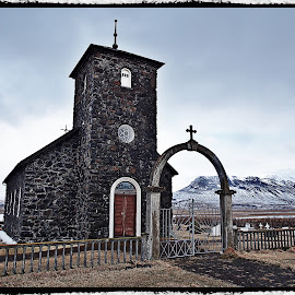 Church in Iceland  by Vijay Balasundaram - Buildings & Architecture Places of Worship ( #curch#iceland#snow#stone )