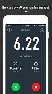 Runtopia Running GPS track Fitness app screenshot for Android