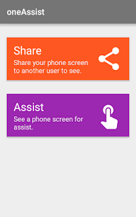 Screen Share - oneAssistant Screenshot