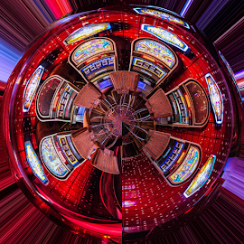 Out of control by Vibeke Friis - Digital Art Places ( interior, casino, tiny planet, costa fascinosa )
