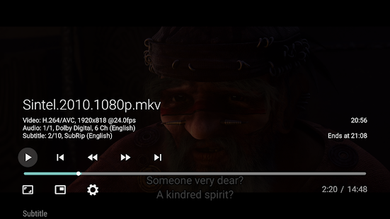 Vimu Media Player for TV Screenshot
