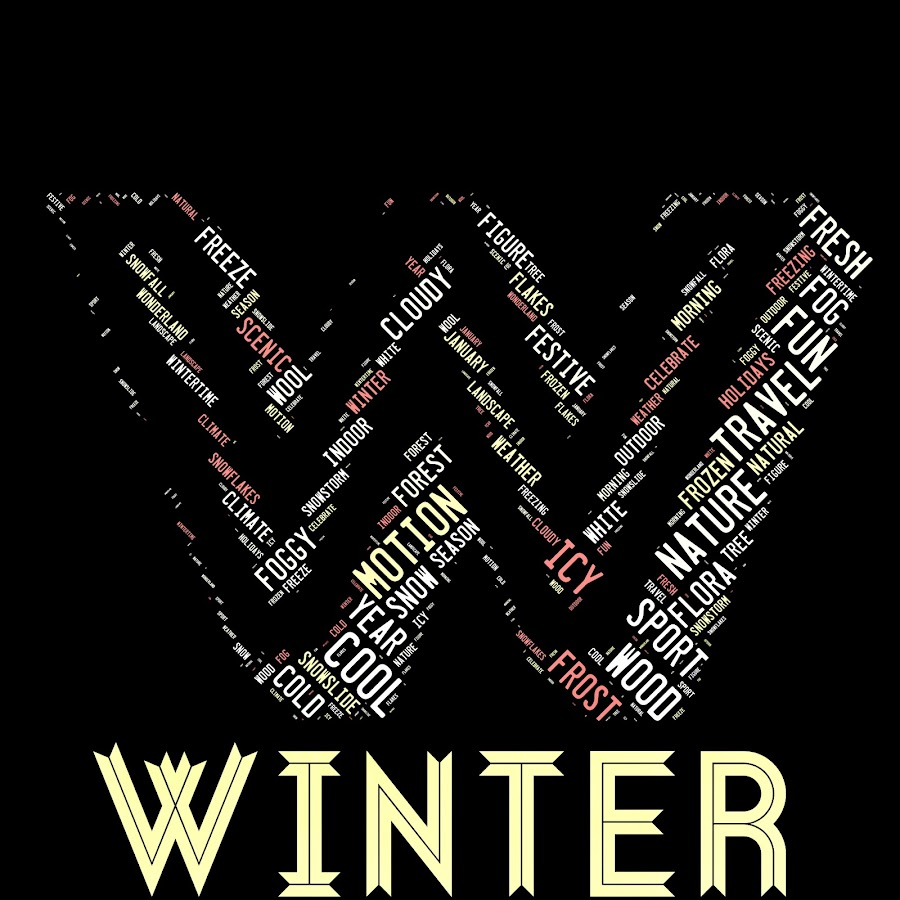 Abstract background by Alesanko Rodriguez - Typography Words ( words cloud of winter ss background )