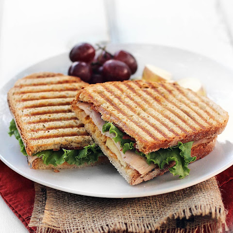 Turkey, Apple, & Bacon Paninis