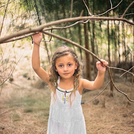 Beauty in the Woods by Stephanie Espinoza - Babies & Children Child Portraits