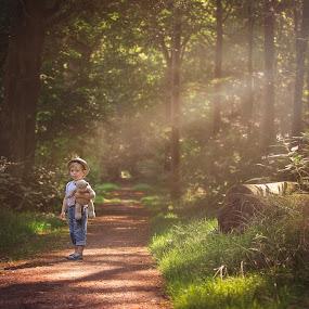 Boy in the forest by Danuta Czapka - Uncategorized All Uncategorized ( children portrait, child photography, childhood, baby boy, children photographer,  )