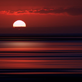 Red by Froddy Baun - Landscapes Sunsets & Sunrises ( red, nikon d610, sunset, cloud, beach,  )
