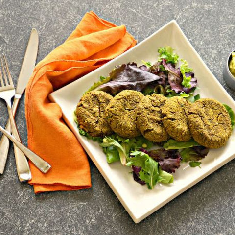Sweet Potato & Walnut Falafel