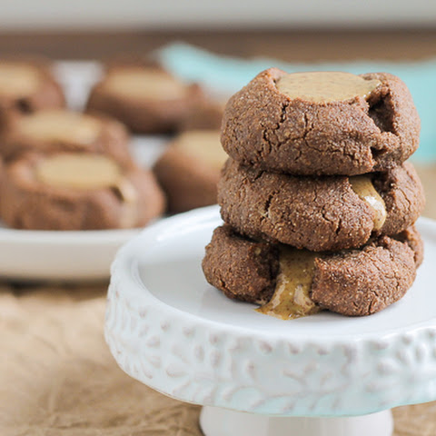 Paleo Chocolate Almond Butter Thumbprint Cookies