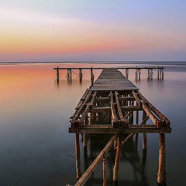 Damaged Bridge Of The Sun by Joel Seoul Bally - Landscapes Sunsets & Sunrises