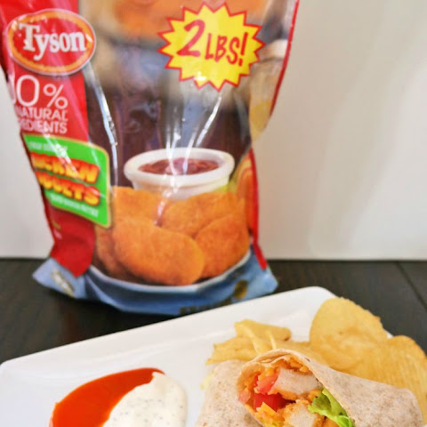 Chicken Wraps featuring Tyson® Chicken Nuggets