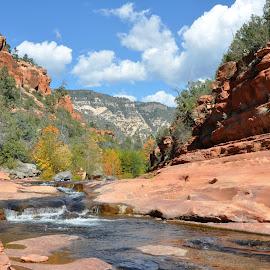 Slide Rock Park by Dawn Hoehn Hagler - Landscapes Travel ( arizona, red rock, slide rock park, landscape, sedona )