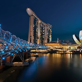 Helix Bridge by Tim Teo - Buildings & Architecture Bridges & Suspended Structures
