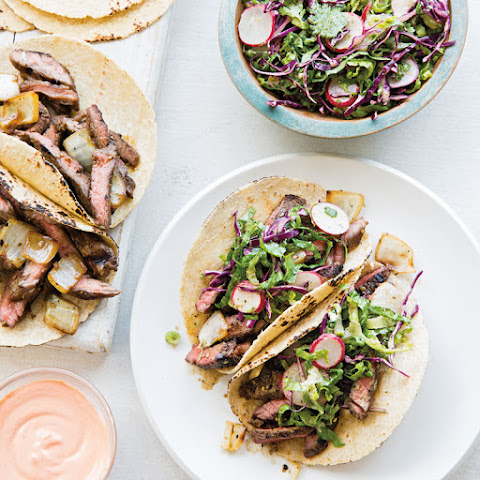 Korean Short Rib Tacos with Crunchy Asian Slaw