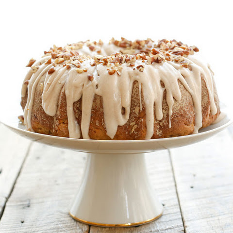 Banana Bundt Cake with Cinnamon Cream Cheese Icing