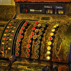 Ten Dollars Please by James Kirk - Artistic Objects Technology Objects ( technology, cash register, antique, commerce )