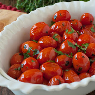 Pan Roasted Tomatoes with Herbs