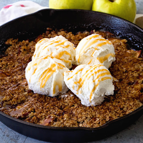 Grilled Caramel Apple Crisp