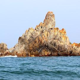 Golden Rocks by Darshan Varhadi - Nature Up Close Rock & Stone ( sea, rocks )