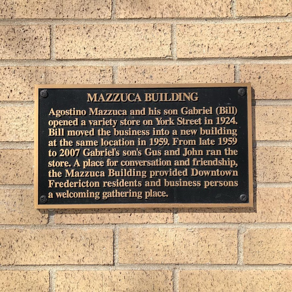 MAZZUCA BUILDING Agostino Mazzuca and his son Gabriel (Bill) opened a variety store on York Street in 1924. Bill moved the business into a new building at the same location in 1959. From late 1959 to ...