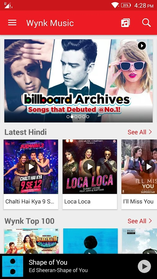 Wynk Music Mp3 Hindi Songs Screenshot