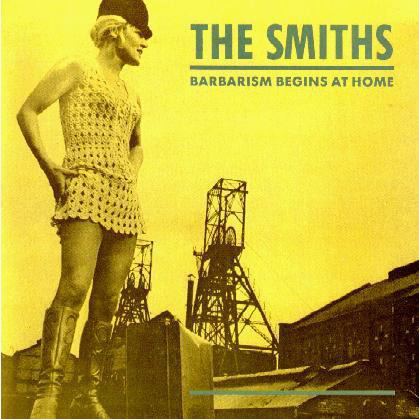 Front cover design for The Smiths Barbarism Begins at Home released in 1984. The cover star for this particular single was Viv Nicholson, the rags to riches UK football pools winner of 1961