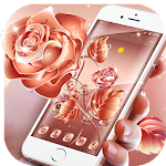 Rose Gold Glitter Elegant Theme Icon
