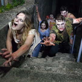 Zombies  by Cheryl Waring - People Street & Candids ( zombies )