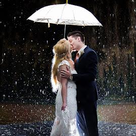 Rainy day by Lodewyk W Goosen (LWG Photo) - Wedding Bride & Groom ( wedding photography, marriage photography, wedding photographers, brides, marriage, love, forever, wedding day, weddings, wedding, couple, wedding photographer, bride and groom, bride, groom, rain, bride groom )