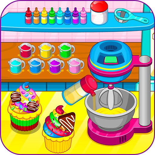 Cooking rainbow cupcakes (game)