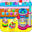 Cooking rainbow cupcakes
