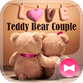 App Cute Theme Teddy Bear Couple APK for Kindle
