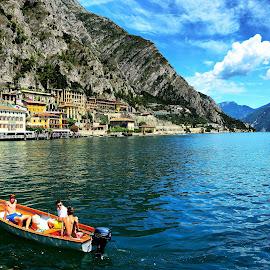 Limone, Lago di Garda by Francis Xavier Camilleri - City,  Street & Park  Skylines