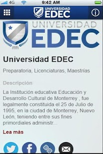 Universidad EDEC - screenshot